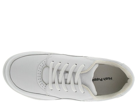 hush puppies power walker white leather walking shoes