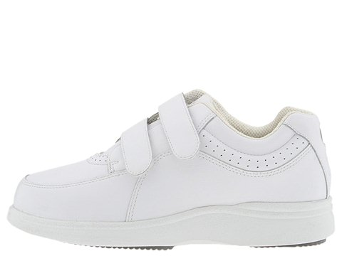 hush puppies power walker ii white leather walking shoes