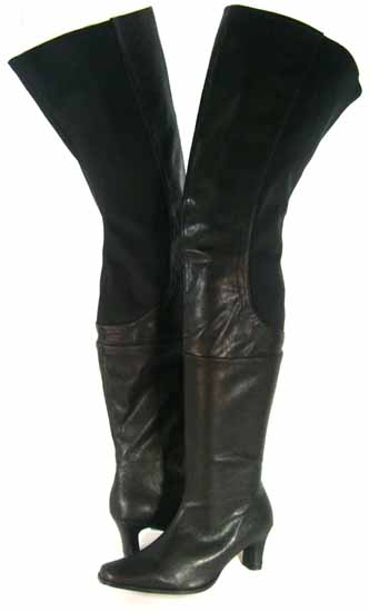 5ea99d4b153f Peearge LB7060 Ladies Thigh High Boots Black Leather  LB7060 ...