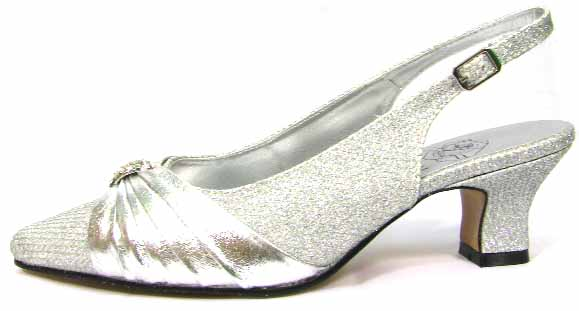 Floral DP736 womens Silver Dress Shoes [DP736] - $59.99 : Wide ...