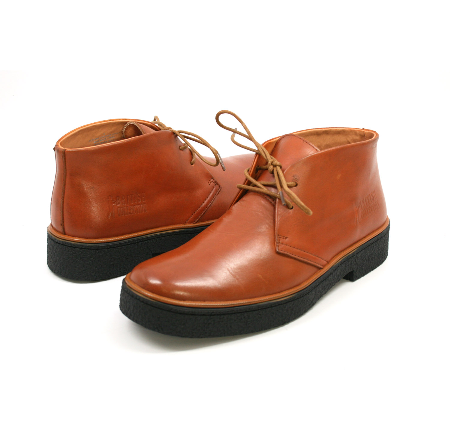 British Collection Men's Playboy Chukka Boot Rust Leather [1226-56 ...