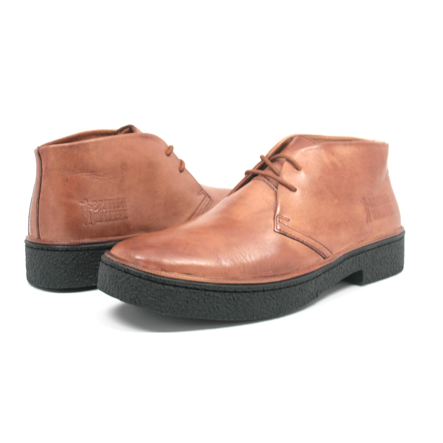 British Walkers Men's Playboy Chukka Boot Light Brown Leather ...