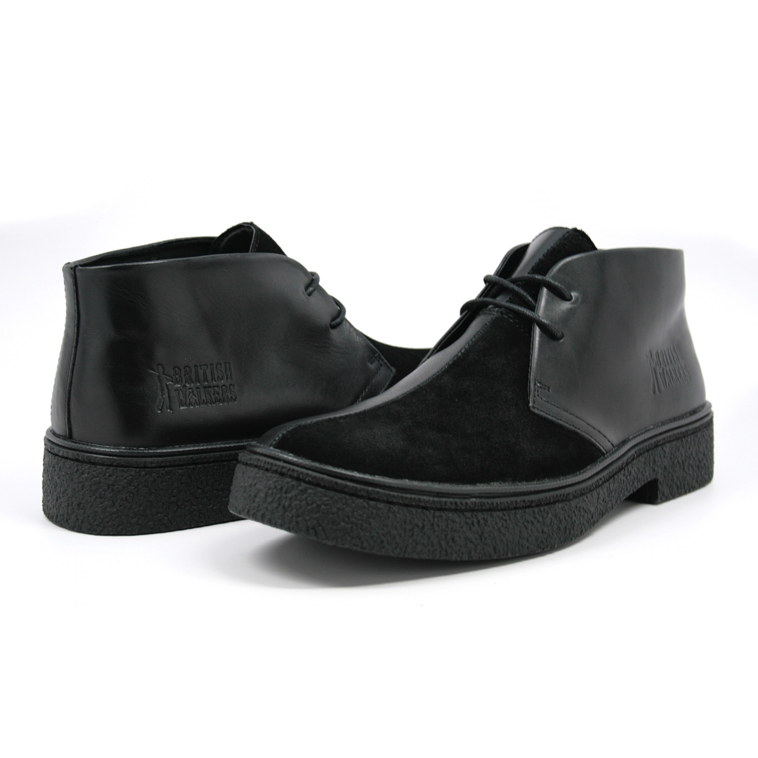 British Walkers Men's Playboy Chukka Boot Black/Black Split Toe ...