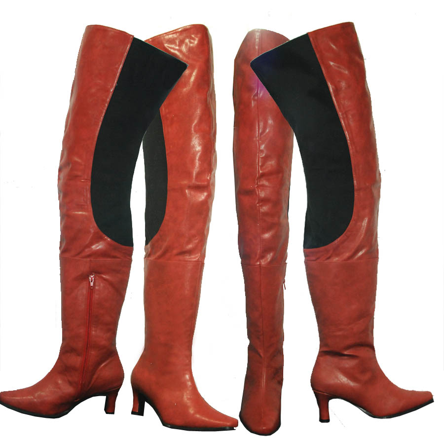 Peearge LB7060 Ladies Thigh High Boots Red Leather [Peerage-lb7060 ...