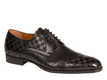 Mezlan Camus Italian Calfskin Black Shoes