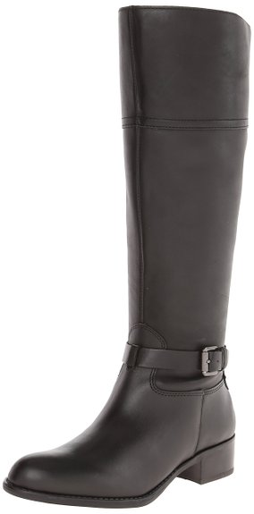 Franco Sarto Women S Corda Riding Boot Black Leather