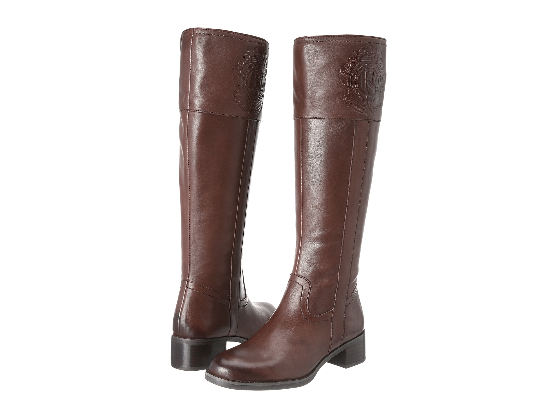 Franco Sarto Women's Christie Riding Boot Ox BrownLeather ...
