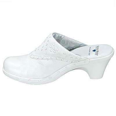 Nurse Mates Womens White Langdon Clog
