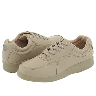 hush puppies power walker taupe leather walking shoes