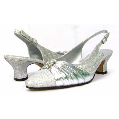 Floral DP736 womens Silver Dress Shoes