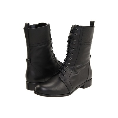 Ros Hommerson Military boot black leather