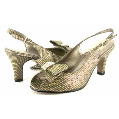 Floral DP721 Womens Bronze Dress Shoes