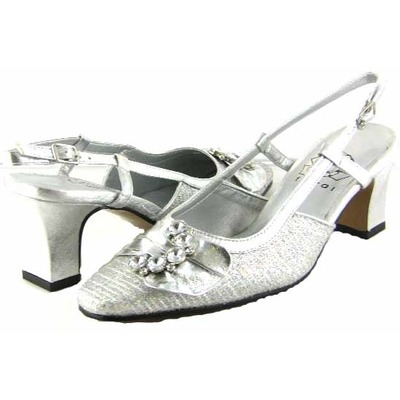 Floral DP751 Womens Silver Dress Shoes [dp751] - $55.99 : Slim and ...