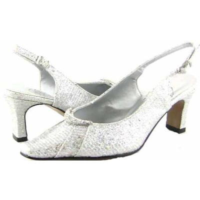 Floral DP723 Womens Silver Dress Shoes [dp723] - $55.99 : Wide ...