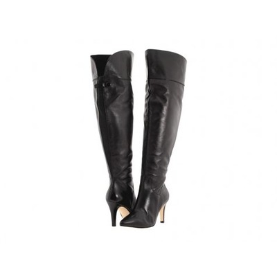 Ros Hommerson wide calf boot Sherlock Black Leather