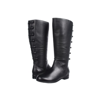 Ros Hommerson Trendy Wide Calf Boot Black Leather