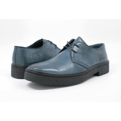 British Walkers Men's Playboy Low Cut Navy Leather