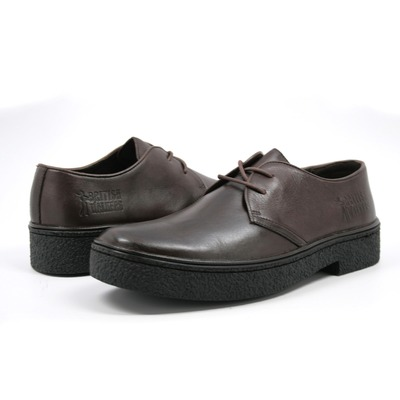 British Walkers Men's Playboy Low Cut Brown Leather
