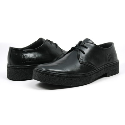 British Walkers Men's Playboy Low Cut Black Leather