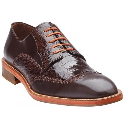 Belvedere Borgo Brown Genuine Italian Calfskin Leather Shoes