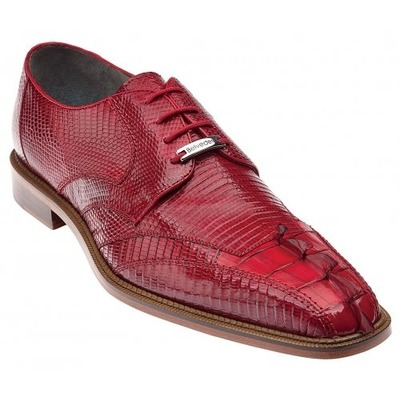 Belvedere Topo Red Genuine Hornback Crocodile/Lizard Shoes
