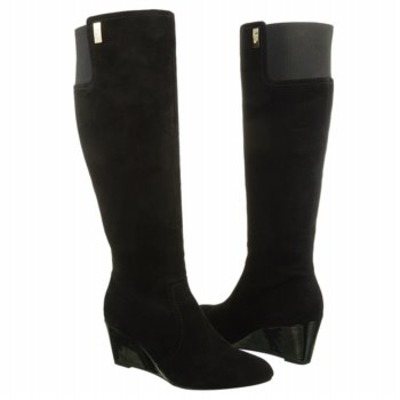AK Anne Klein Women's Edenia Black Suede Knee High Boot - $129.99 ...