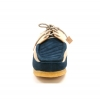British Collection Crown-Navy/Beige Leather Suede