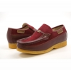 British Collection Power Old School Slip- Burgundy Leather Suede