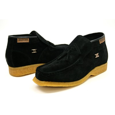 British Collection Palace-Black Suede Slip-on with tassle