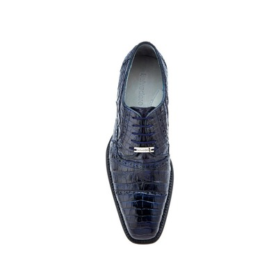 Belvedere Marcello Genuine Crocodile-Navy
