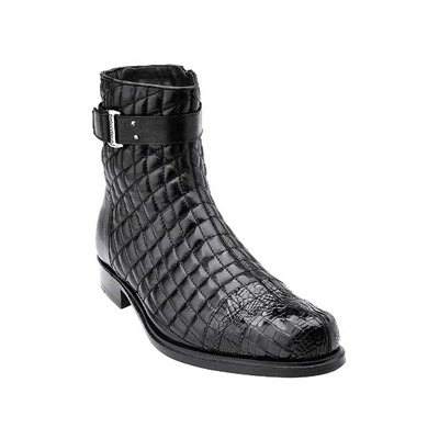 Belvedere Libero Genuine Alligator Soft Quilted Leather-Black