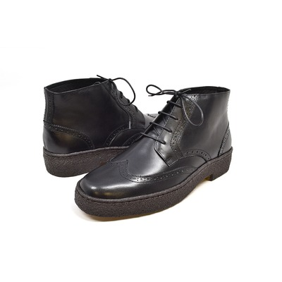 British Collection Wingtips Limited-all Black Leather