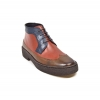 British Collection Playboy Wingtips 3 Tone Brown combo