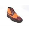 British Collection Wingtip Two-Tone Burg Leather/Rust Suede