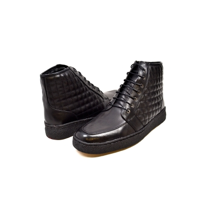 "British Collection ""Extreme"" Black Leather High Top w/Crepe Sole"