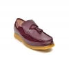 British Collection Brooklyn I Burgundy Leather and Suede