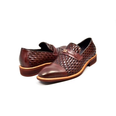 "British Collection ""Azure"" Brown Woven Leather"