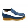 British Collection Checkers-Blue/White Slip-ons