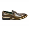"British Collection ""Dolche"" Olive Ostrich Leather"