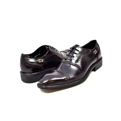 "British Collection ""Executive"" Black Leather Oxford"
