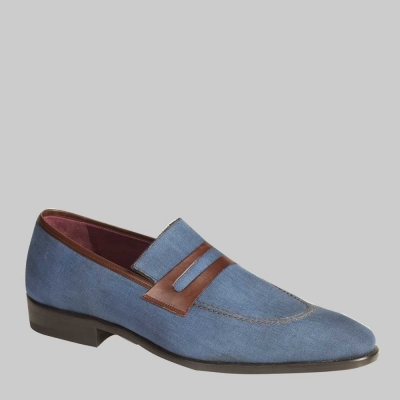 Mezlan Suede Blue/Brown Shoes