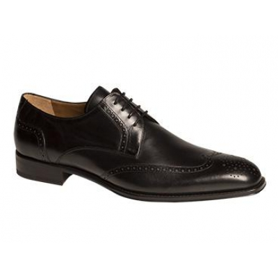 Mezlan Bosch Classic Perforated WingTip Black Oxford