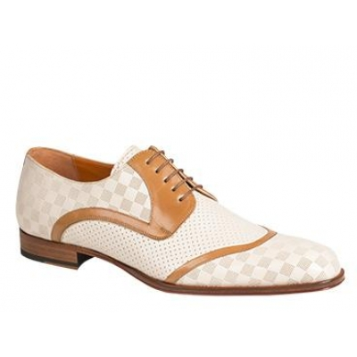 Mezlan Camus Italian Calfskin Bone Shoes