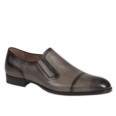 Mezlan Gallego Double-Etched Gray Shoes