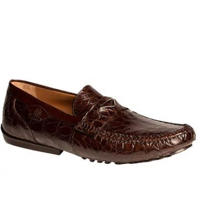 Mezlan Padua Genuine Crocodile Brown Shoes