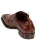 Mezlan Prague Genuine Crocodile Brown Shoes