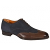 Mezlan Ronda Old English Suede Dark Shoes