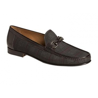 Mezlan Salinas Suede Fashion Horsebit Loafer Black Shoes