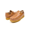 "British Collection ""Harlem"" Cognac Ostrich Leather"