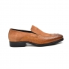 "British Collection ""Shiraz"" Tan Croc Leather and Suede"